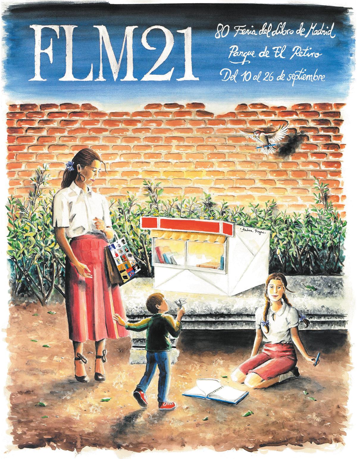 Cartel Feria del Libro de Madrid 2021. Andrea Reyes