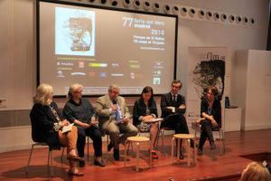 Participantes de la rueda de prensa de presentación de la Feria del Libro de Madrid