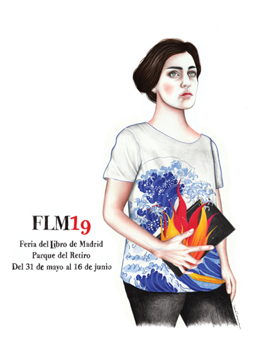 Cartel Feria del Libro de Madrid 2019. Sara Morante, Autora: