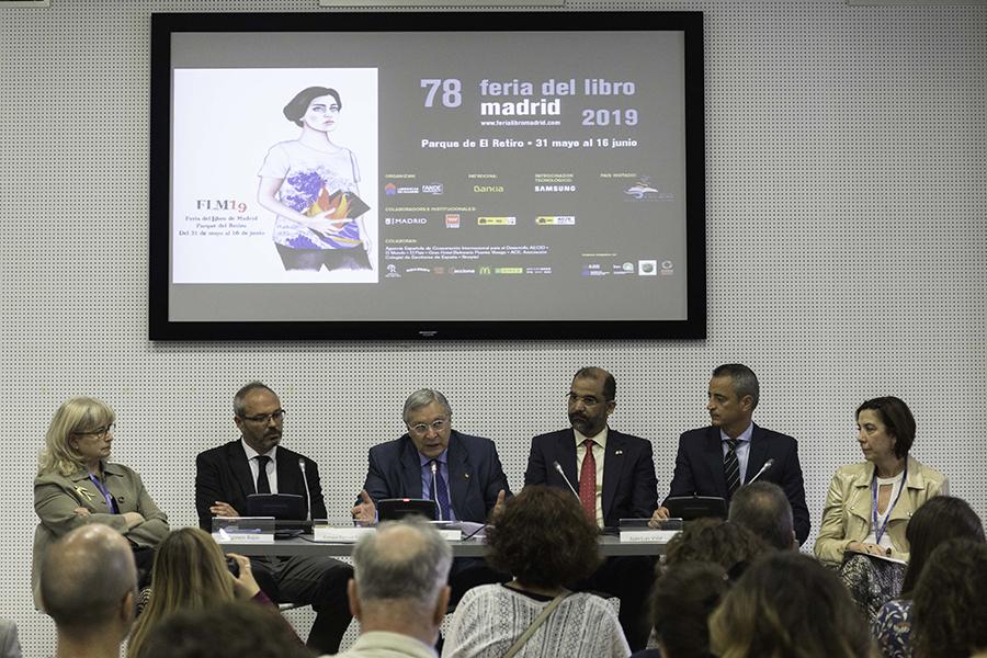 rueda de prensa Feria del libro de Madrid