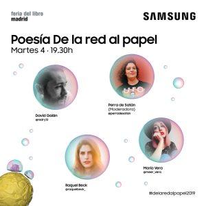 Poesía 'De la red al papel' @ Pabellón Samsung