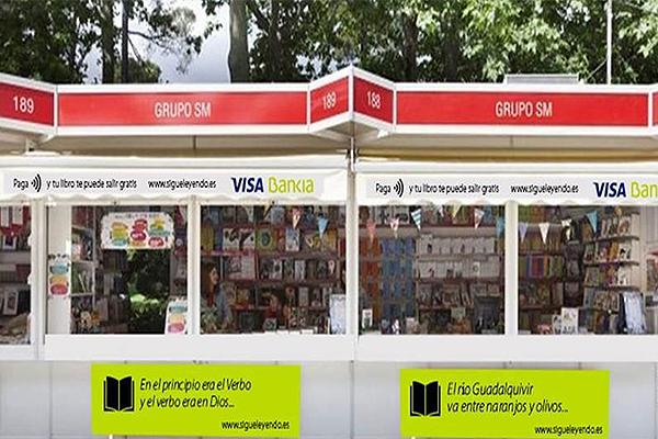 Patrocinio en las casetas de la Feria del Libro de Madrid