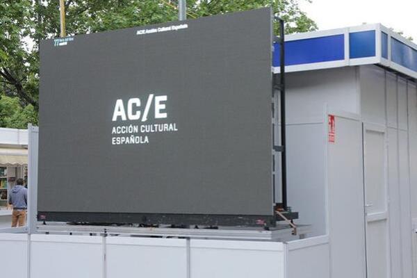 Patrocinio en pantallas LED en la Feria del Libro de Madrid