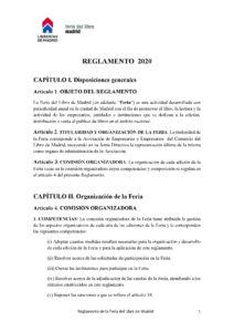Reglamento Feria Libro Madrid 2020