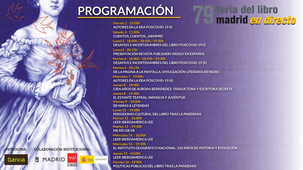 Actividades de la 79ª Feria del Libro de Madrid 2020