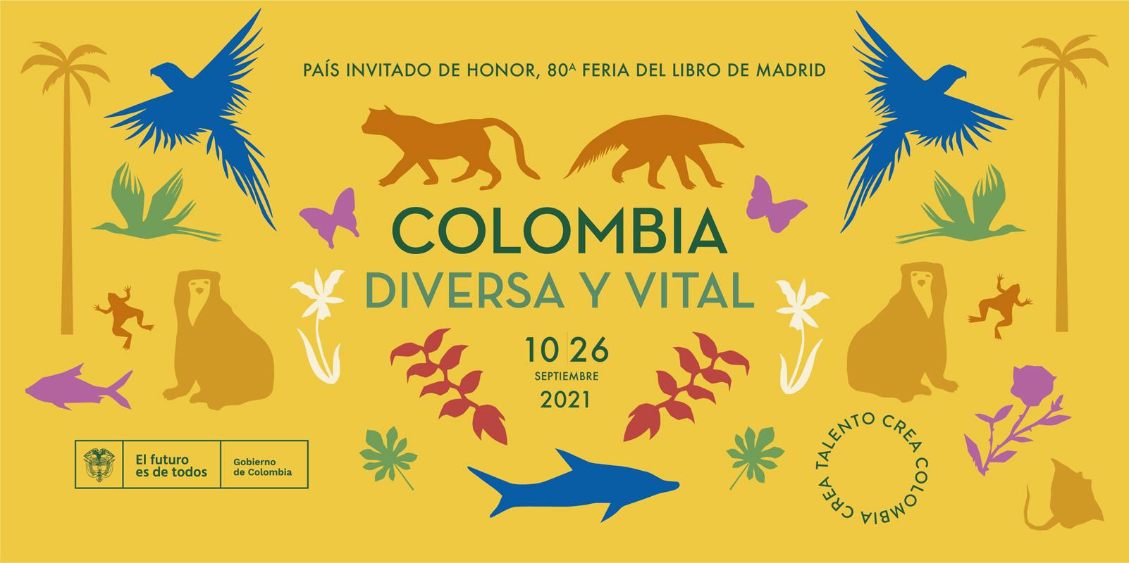 Colombia país invitado de honor de la 80ª edición de la Feria del Libro de Madrid 2021