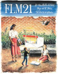 Cartel de la 80º Edición de la Feria Libro de Madrid 2021