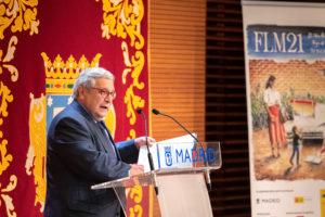 Manuel Gil, en la presentación del Dossier de Prensa con las actividades de la 80ª Edición de la Feria del Libro de Madrid 2021
